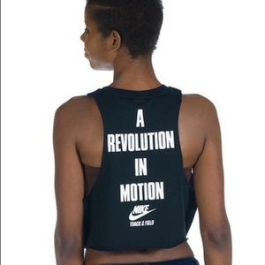 Nike 'A Revolution in Motion' cropped tank